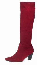 Ladies Stretch Boots in Cranberry Red