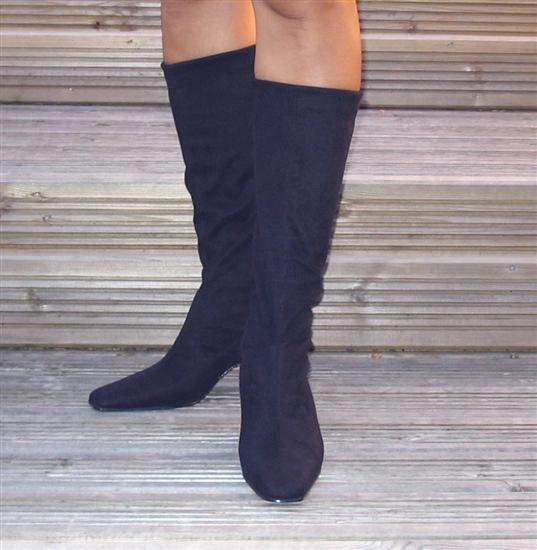 Ladies Stretch Boots Navy Sole Divas