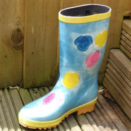 Wellies Hand Painted Sky