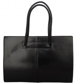 Italian Leather Tote Bag Black