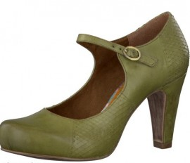 Green Leather Mary Jane Style Shoes
