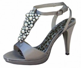Melanie Dark Grey Evening Sandals