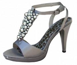 Melanie Dark Grey Evening Sandals