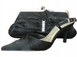 Menbur Black Satin Ladies Shoes