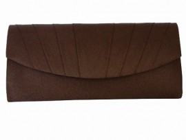 Menbur Ruffle Brown Clutch Bag
