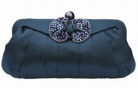 Menbur Avance Navy Clutch Bag With Bow