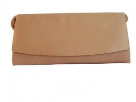 Menbur Nude Satin Clutch Bag
