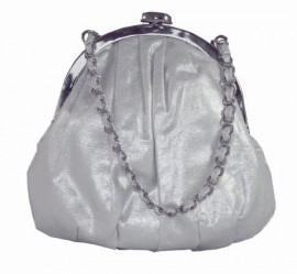 Menbur Silver Fabric Soft Evening Bag