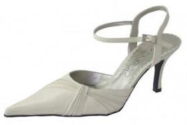 Menbur Ivory Satin Wrap Detail Ladies Shoes