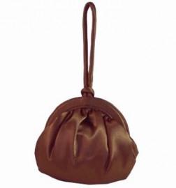 Menbur Bronze Satin Hand Held Bag