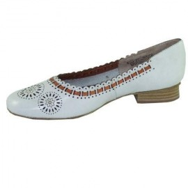 Millie White Leather Flat Shoe