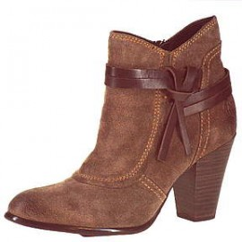Natalie Brown Leather Ankle Boots
