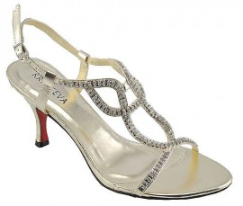 Nina Gold Evening Sandals