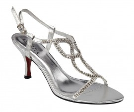 Nina Silver Evening Sandals