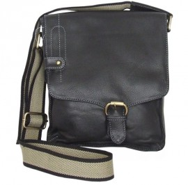 Ollys Black Leather Cross Body Bag