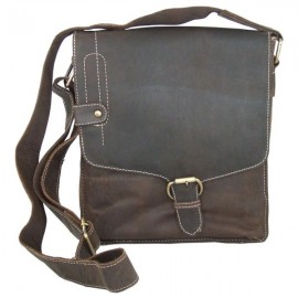 Ollys Brown Leather Cross Body Bag