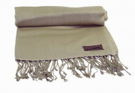 Pashmina Shawl in Light Olive Green