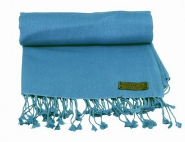Pashmina Stole in Mid Blue