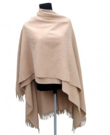 Italian Cape 100% Lambs wool Light Camel