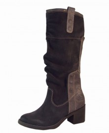 Petra Graphite Leather Suede Ladies Boots