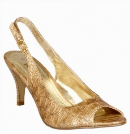Pilar Abril Moc Crocodile Camel Slingback Shoes