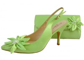 Rosa Lime Green Evening Shoes