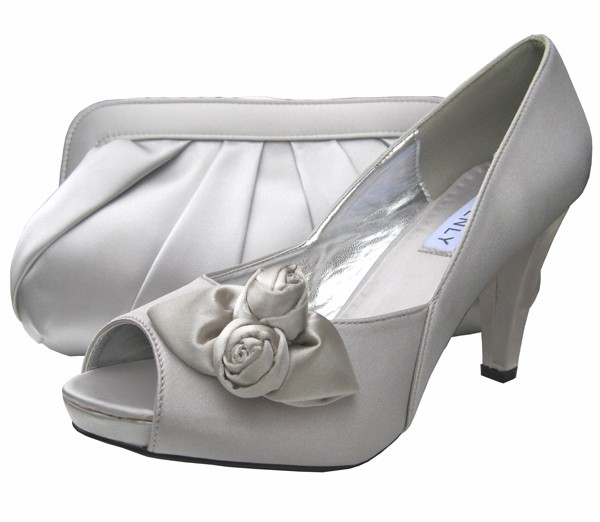 Silver Evening Shoes With Free Uk Delivery