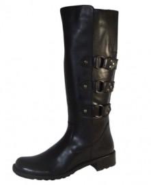 Roxy Black Leather Biker Boots