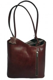 Italian Leather Shoulder and Rucksack Bag Brown