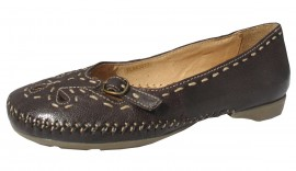 Sally Soft & Flexible Dark Brown Leather Flat Shoe