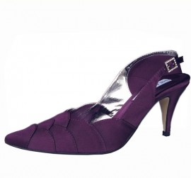 Selina Aubergine Purple Evening Shoes