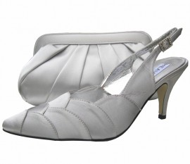 Selina Silver Evening Shoes