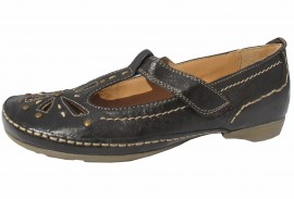Sheena Brown Leather T-Bar Soft & Flexible Shoes