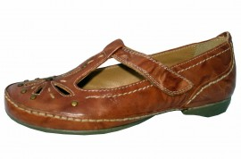 Sheena Tan Leather T-Bar Soft & Flexible Shoes
