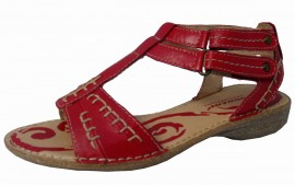 Shirley Soft & Flexible Red Leather Sandal