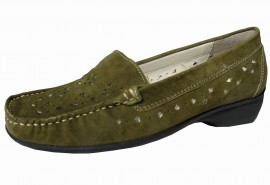 Sorrell Green Leather Suede Loafer