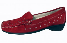 Sorrell Red Leather Suede Loafer