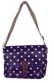 Polka Dot Saddle Bag Blue