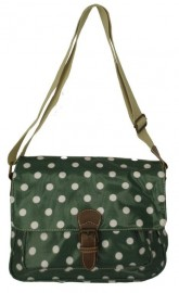 Polka Dot Saddle Bag Green