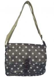 Polka Dot Saddle Bag Grey