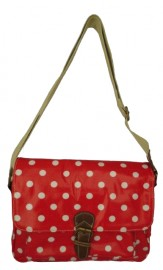Polka Dot Saddle Bag Red