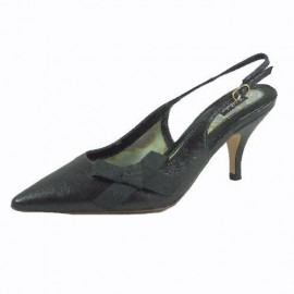 Ted Baker Black Leather Slingbacks
