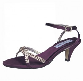 Theresa Aubergine Purple Evening Sandals