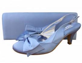 Twee Periwinkle Blue Satin Slingback Shoe