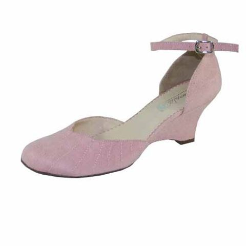 pink wedge heel shoes 50