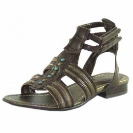 Aisha Gladiator Sandal in Brown