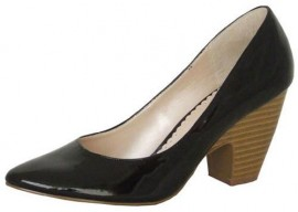 Black Patent Heeled Ladies Shoes