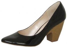 Black Patent Heeled Ladies Shoes