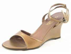 Wedge Heel Sandal Bronze