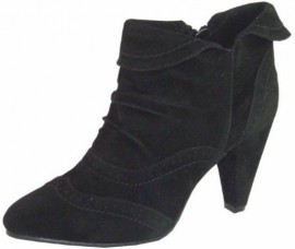 Candice Black Suede Ankle Boots
